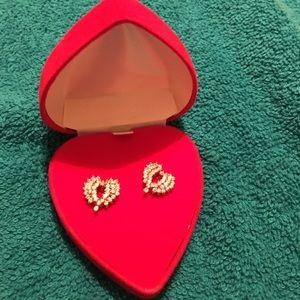 Beautiful faux diamond heart shaped studs